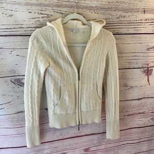 Vince 100% cashmere hooded full-zip cardigan